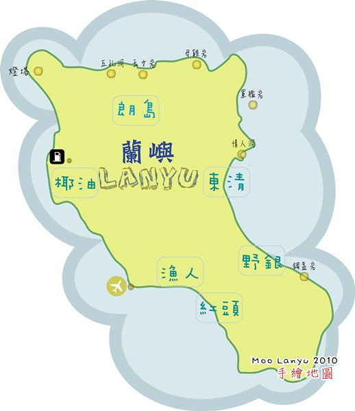 lanyu map