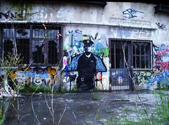 """linus"" (l.e.t.) Tags: street streetart pasteup art germany graffiti design artwork stencil sticker paint artist teddy native contemporary kunst wheatpaste police linus spray artshow dsseldorf let"