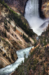 The Falls of Yellowstone (Stuck in Customs) Tags: world travel trees usa west water colors digital america river photography blog nationalpark high sand scenery montana dynamic stuck natural united north scenic july falls rapids dirt waterfalls valley processing western yellowstonenationalpark yellowstone imaging states wyoming range cascade hdr tutorial trey sparse travelblog customs 2010 gulch rushing turbulent ratcliff hdrtutorial stuckincustoms treyratcliff stuckincustomscom nikond3s