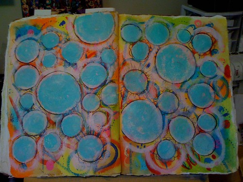 creative journal page in progress