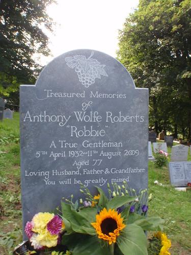 """Robbie's"" Stone in Morwenstow Churchyard."