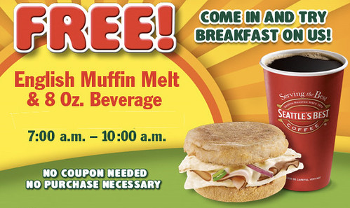 Free Subway Breakfast