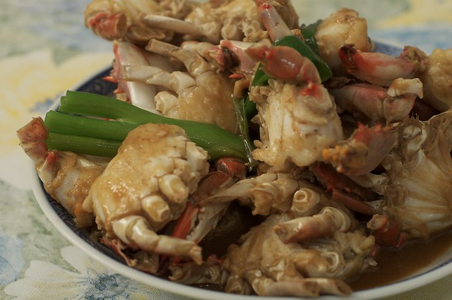 Pan-fried crab