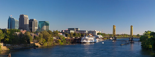Panorama of the Sacramento Riverfront