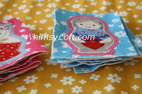 Matryoshka doll applique