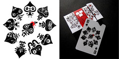 BRC Card Deck 2 - 10 of Spades (WOTTO*) Tags: red blackandwhite cute set illustration naughty cards 10 deck poker card brc murder characters threadless killers bastards vector available blackjack playingcard collectable spade tenofspades wotto blackrockcollective