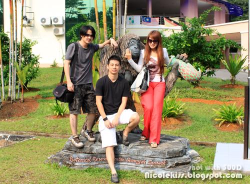 me and derek and bong and orang utan