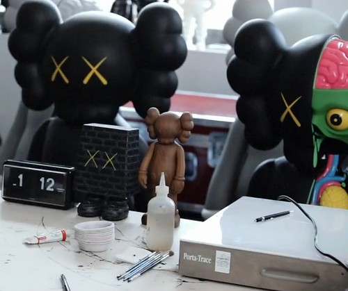 Wooden Kaws Companion