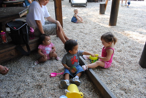 NoVa Mommies play date at Fantasy Playground, Lake Ridge, Virginia