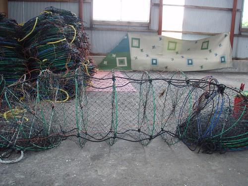 ホタテの養殖網