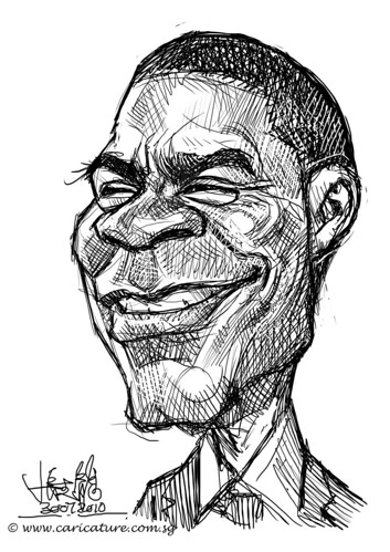 digital sketch studies of Tracy Morgan - 4
