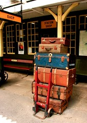 (1166) luggage  / Embsay Railway Station (unicorn 81) Tags: old uk greatbritain england building history britain yorkshire luggage british suitcase railwaystations koffer embsay reisegepck unicorn81