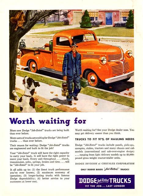 truck ad pickup dodge 1946