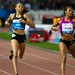 Allyson Felix (USA) left & Debbie Dunn (USA) right