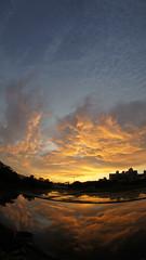 sunset (ddsnet) Tags: new sunset sky cloud sun sunrise sony fisheye experience     nex      fisheyeconverter mirrorless  emount nex5 vclecf1 newemountexperience