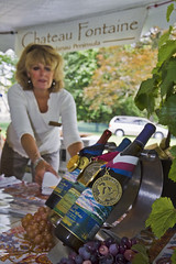 Chateau Fontaine Booth (ETCphoto) Tags: music food art thevillage wine michigan event tasting traversecity sampling communty 7682 gtcommons tcwineartsfestival