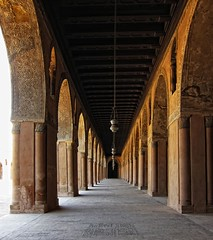 Symmetric Axis - Masjid Ahmed Ibn Tulun     / Cairo / Egypt - 28 05 2010 (Ahmed Al.Badawy) Tags: architecture shots path 05 egypt cairo 28 ahmed archs masjid islamic 2010 ibn    tulun tulunids  albadawy hutect