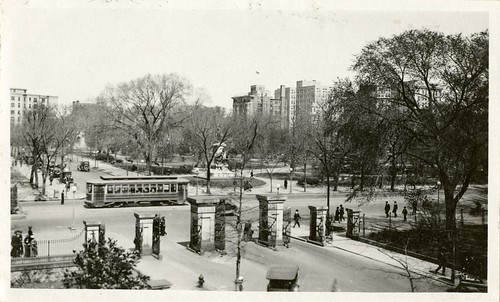 Lafayette Park seen from the Old Executive Office Building, 1919, by Martin A. Gruber, Black-and-whi