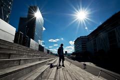 This is not a double rainbow (janbat) Tags: blue sun man paris france building soleil nikon bleu staircase bnf 20mm voigtlnder homme immeuble f35 colorskopar d700 louistib jbaudebert