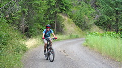 Tucannon River Riding (Doug Goodenough) Tags: tucannon river bicycle bike cycle ride blue mountains washington bryce camping tent pedals spokes gravel douggoodenough doug goodenough drg53110p drg53110tucannon 2010 august aug forest drg531