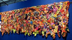wallhanging at textile arts brisbane (freeform by prudence) Tags: crochet arts knit brisbane textile wallhanging freeform