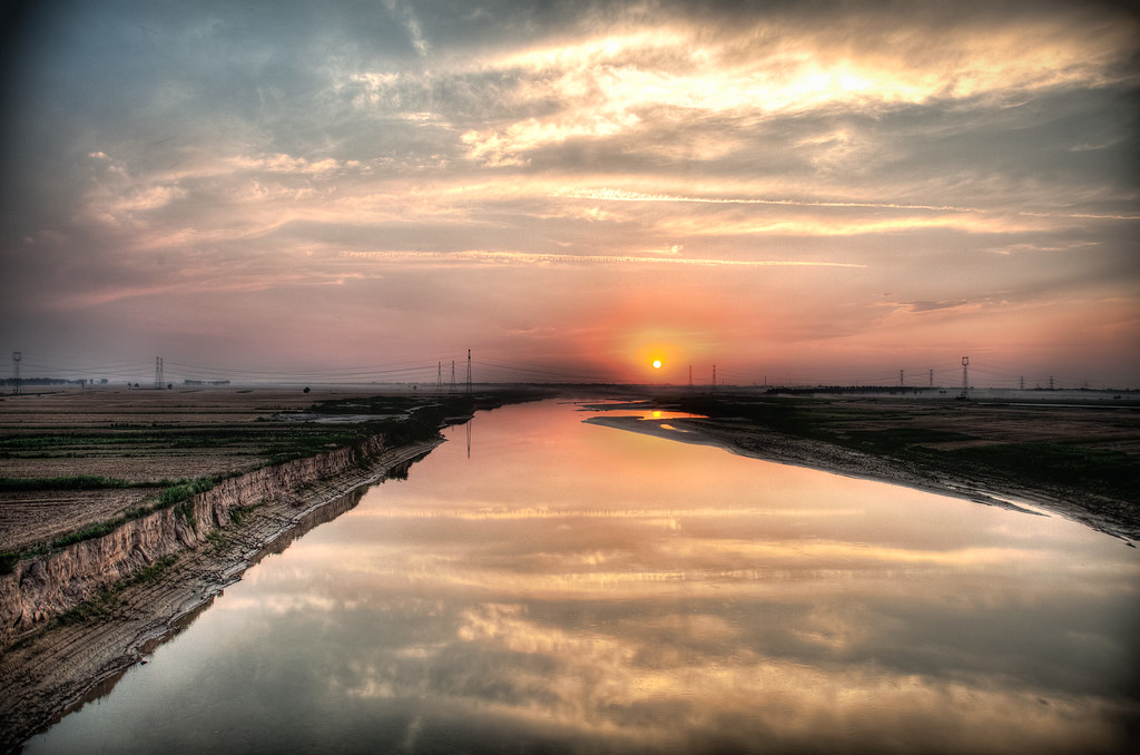 Wei River Sunset HDR