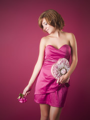 August Valentine (Dave Ward Photography) Tags: woman girl beautiful beauty rose studio washington emily model pretty candle unitedstates heart gorgeous valentine flame bellingham fower augustvalentine