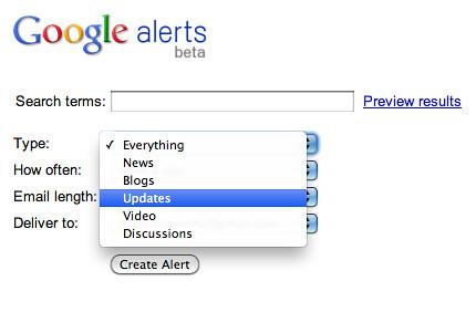 Google Alerts Update