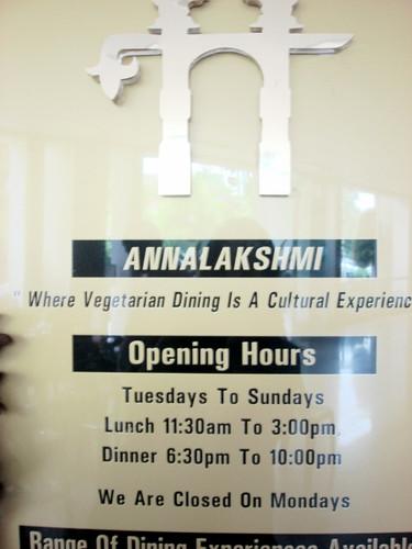 Annalakshmi Brickfields - opening hours
