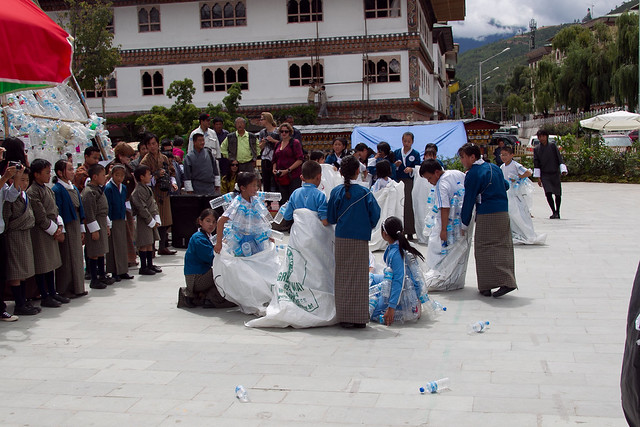 Garbage Art by VAST Bhutan