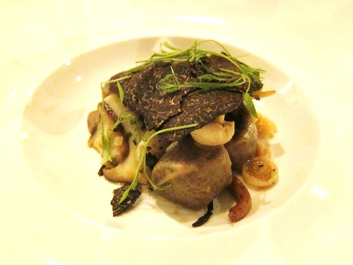 Porcini Gnocchi with truffles and Girolles at Tippling CLub