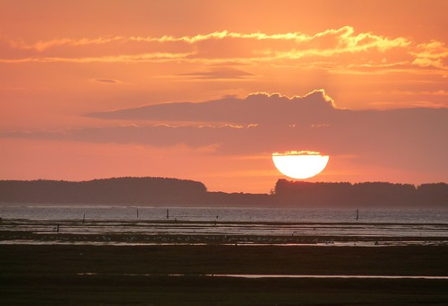 22340 - Sunset over Whiteford Point, Gower
