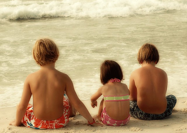 three-on-beach