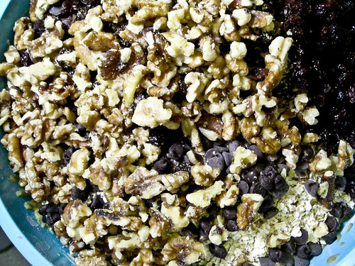 nuts raisins and chocolate