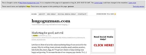 hugoguzman.com google regular cache