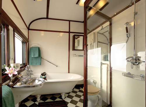 Royal Bathroom in the Rovos Train, South Africa