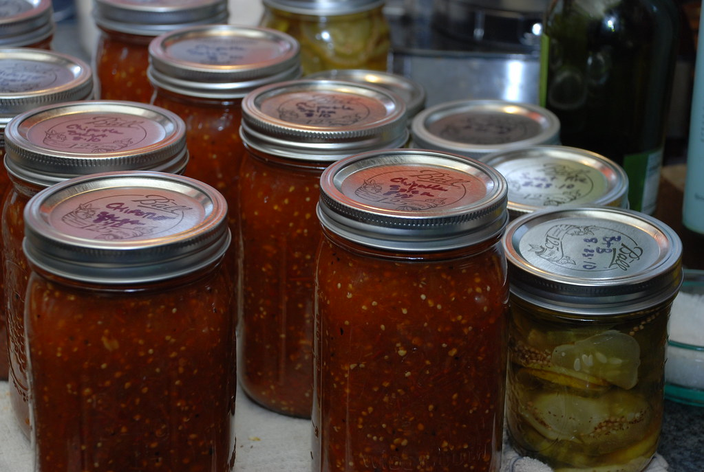 Ladleah's famous salsa and pickles