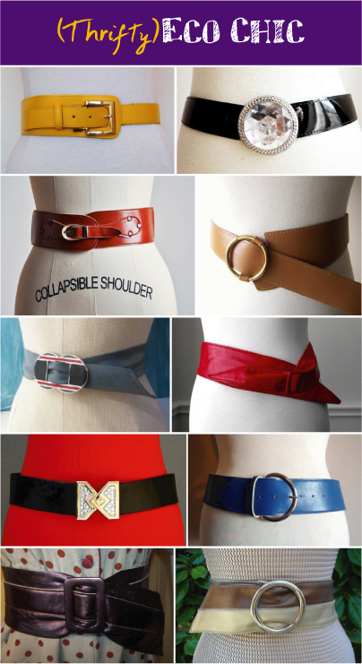 (Thifty)Vegan Eco Chic: Vintage Belts