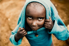 Blue Sweater (Jeremy Snell) Tags: blue cute girl sweater child little african ethiopia slum korah