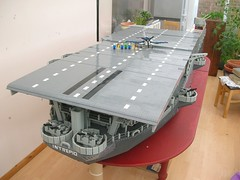 USS Intrepid Aft half 7 (Lego Monster) Tags: ship lego navy aircraftcarrier usnavy uss carrier ussintrepid essexclass