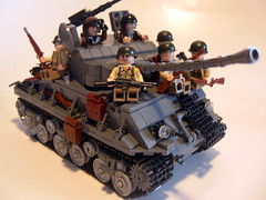 M4A3E8 Sherman - Geared Up (. soop) Tags: world two usa infantry war tank lego gear ww2 sherman m4a3e8