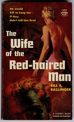 the wife of the red-haired man (unexpectedtales) Tags: old fiction red art illustration work vintage hair paper book back artwork paperback cover 1950s pulpfiction novel covers pulp haired sleaze