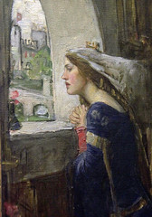 Part of Fair Rosamund - John William Waterhouse, 1916 (Kotomi_) Tags: museum wales painting cardiff waterhouse preraphaelite nationalmuseumcardiff
