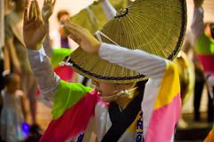 Festival Dancer With Awa Odori Hat (aeschylus18917) Tags: woman cute girl beautiful smile festival japan 50mm tokyo dance nikon dancing d f14 dancer kawaii yukata   nikkor matsuri setagaya shimokitazawa awaodori  nikkor50mmf14d     50mmf14d  setagayaku    yamatonadeshiko utsukushii awadancefestival d700   nikond700 danielruyle aeschylus18917 danruyle druyle