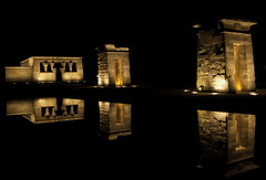Egyptian Night, vol. 2 (Ganymede: Photography) Tags: madrid night temple noche interestingness interesting nikon egypt explore egyptian nocturne templo lightroom debod templodedebod d60 egipcia debodtemple templeofdebod nikond60 egyptiannight