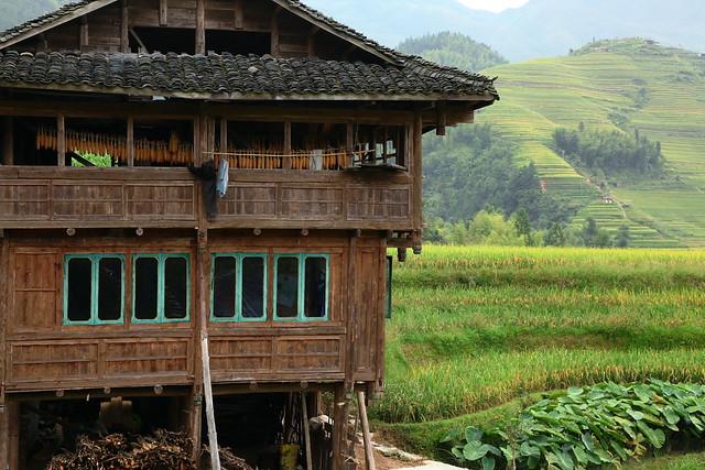 Traditional house in Longsheng Rice Terrace, Guangxi, China