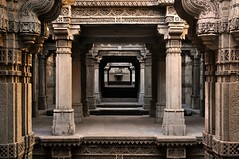 Stepwell of Adalaj (Bhaskar Dutta) Tags: wallpaper india history monument architecture temple ancient scenery well step survey gujarat ahmedabad archeological stepwell adalaj
