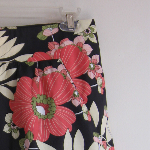 floral skirt close up yoke