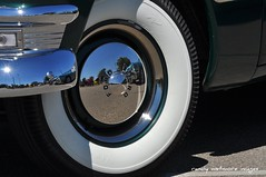 Car Show In a Hubcap (MTOWN JAYHAWK) Tags: auto reflection classic nikon tire iowa chrome hubcap classiccars d90 whitewalltire