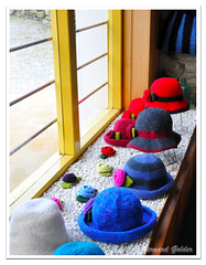 Colourful Hats in Old Cromwell shop (Bernzfotos - Bernard Golder Photography) Tags: newzealand holiday nikon tourist nz southisland otago centralotago queenstown nikkor cromwell d300 nouvellezlande queenstownnz nikond300 nikkorvr18105mmf35 bernzfotos